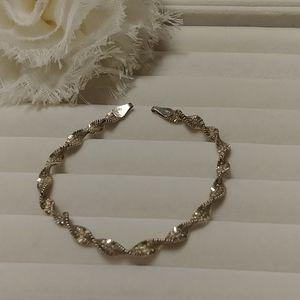 Silver 925 Rope Chain Bracelet